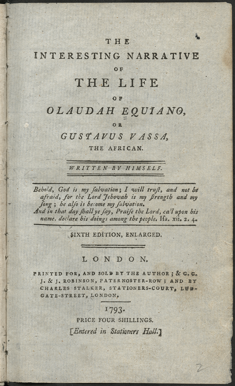 The Interesting Life of Equiano Olaudah