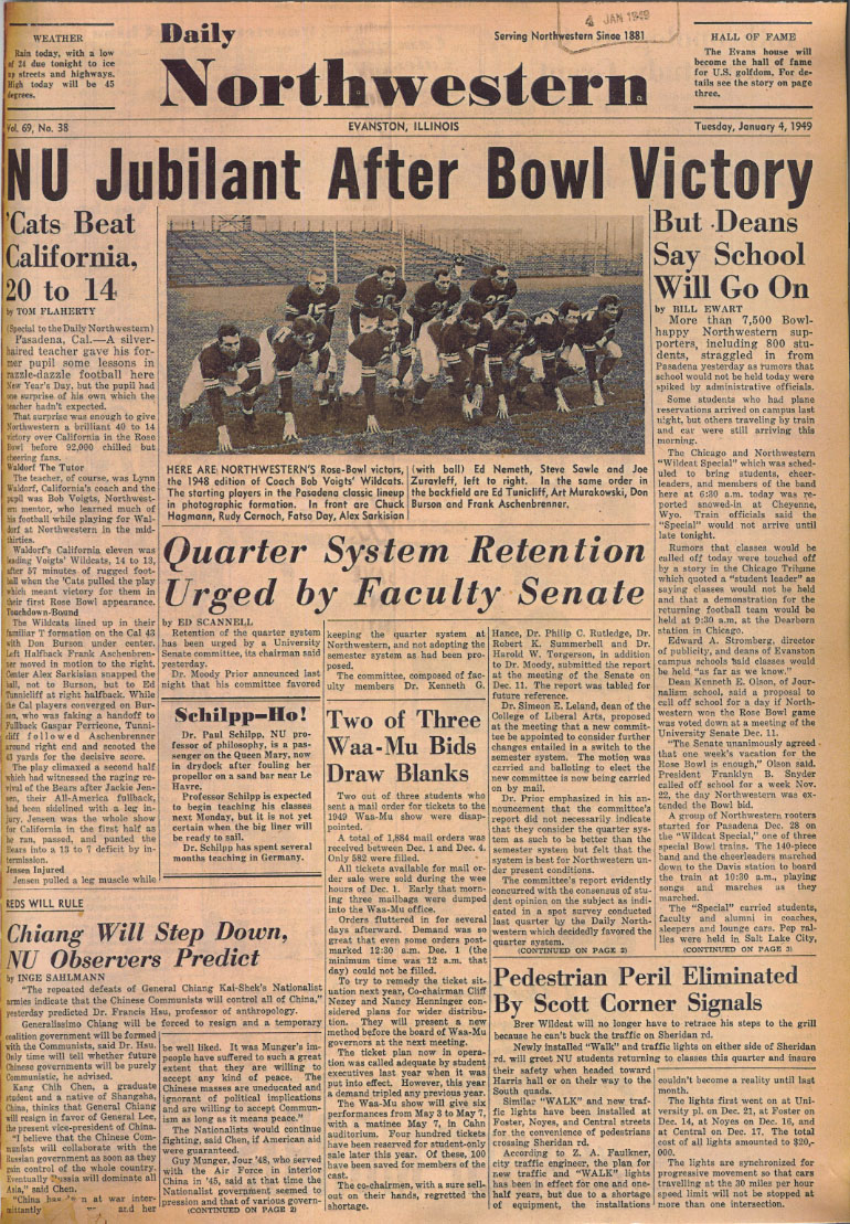Daily headline, January 4, 1949